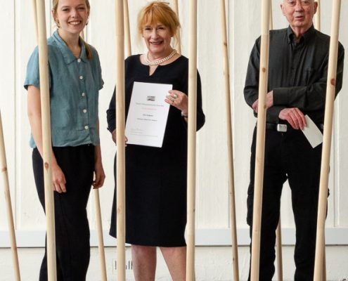 FEUVA Student Sculpture Prize 2018 - Alice Dudgeon with Robin Paine and Robert Anderson